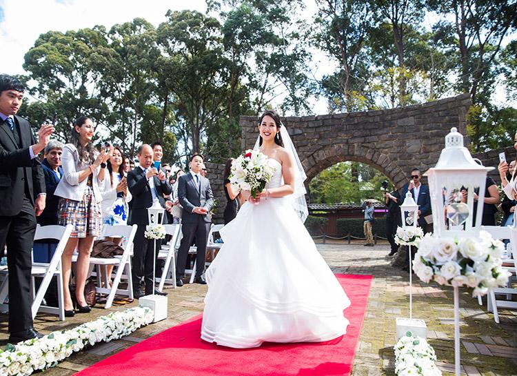 Wedding Aisle at Auburn Botanic Gardens