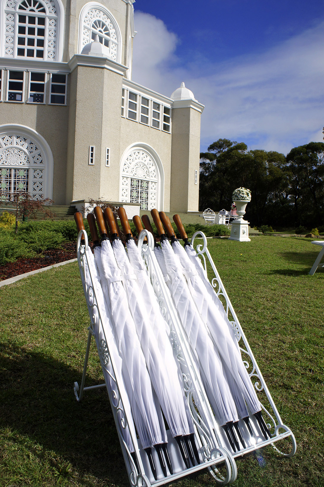 Outdoor Wedding Umbrella Hire