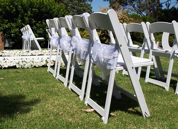 Wedding Chairs and Sashes